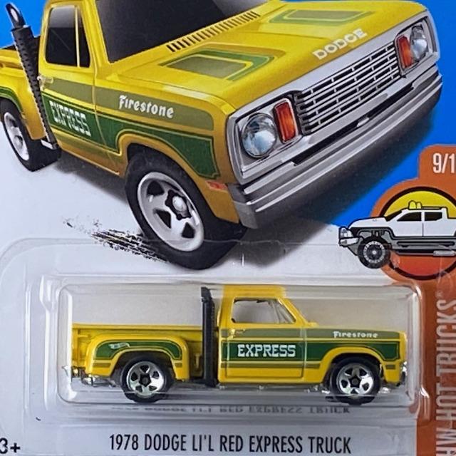 2017 HW Hot Trucks / 1978 Dodge Li'l Red Express Truck / 1978 ダッジ リル レッド エクスプレス トラック