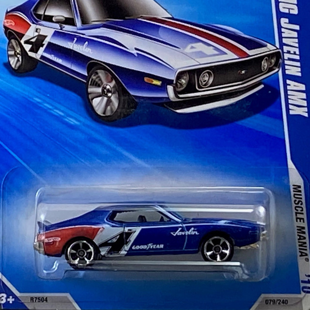 2010 HW Muscle Mania  / AMC Javelin AMX / AMC ジャベリン AMX