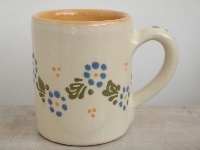 アルザス地方 スフレンハイム焼き 花 マグカップ