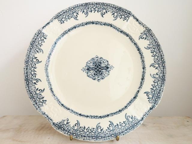 フランス アンティーク ディナー皿 Choisy le Roi製