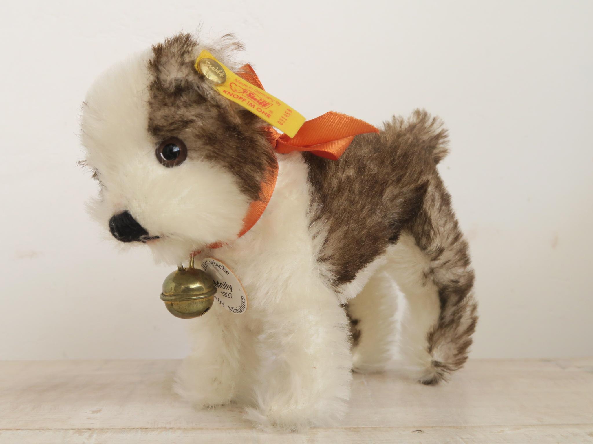 シュタイフ 復刻版 子犬 Steiff Molly 1927 16cm