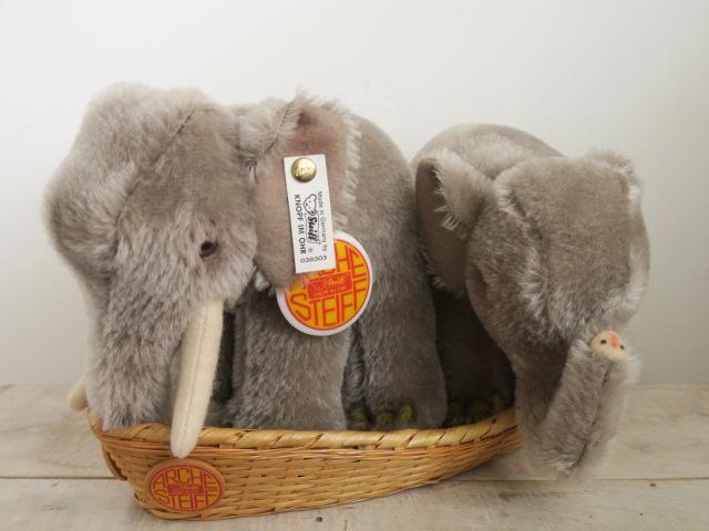 シュタイフ ゾウ ペア ノアの箱舟 Steiff Elephant ARCHE 15cm 17cm