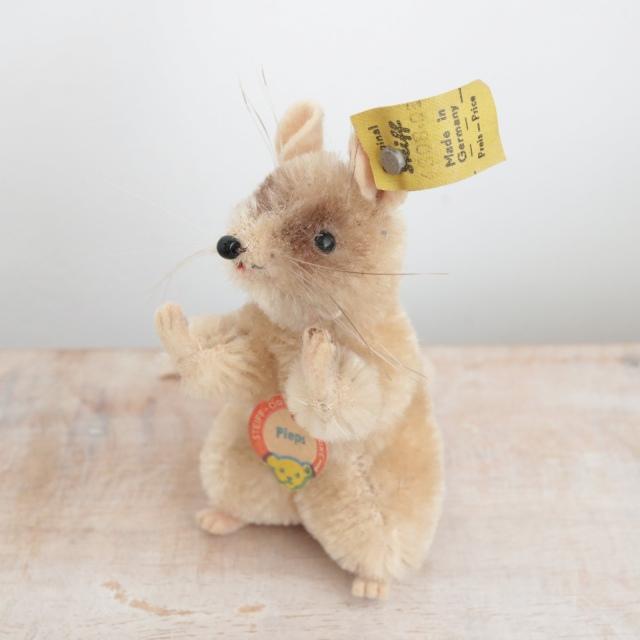 アンティーク シュタイフ ネズミ Steiff Pieps 8cm