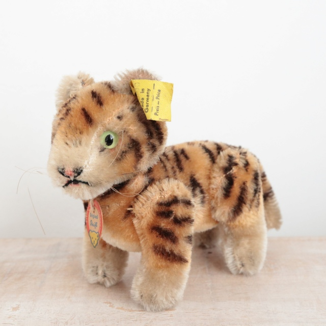 アンティーク シュタイフ トラ Steiff Tiger 10cm