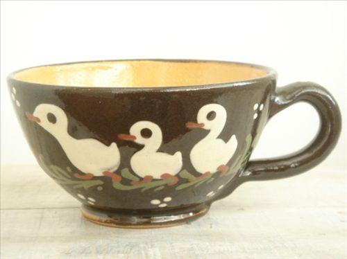 スフレンハイム焼き  3羽のアヒル 大きなカップ