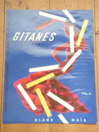 GITANES ビンテージポスター ヴィルモ