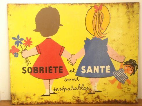 ルフォール・オプノ Lefor Openo SOBRIETE et SANTEのビンテージ看板