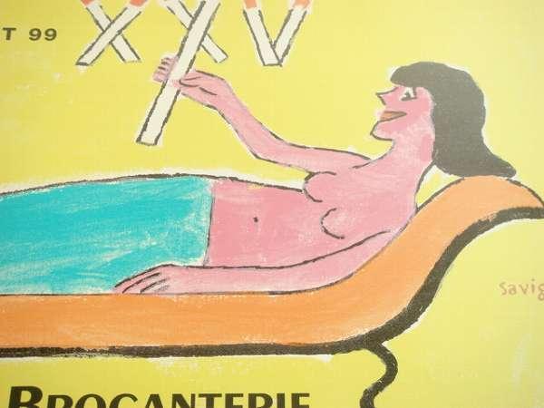 サヴィニャックポスター LA BROCANTERIE