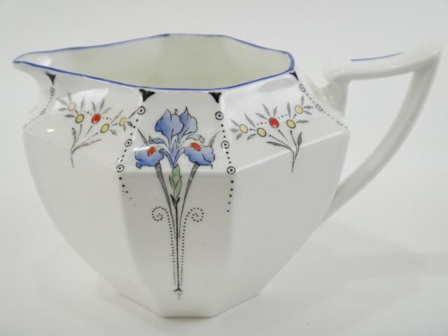 SHELLEY シェリー ブルーアイリス Blue Iris ミルクジャグ
