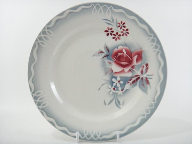 アンティークデザート皿 OLGA DIGOIN SARREGUEMINES製