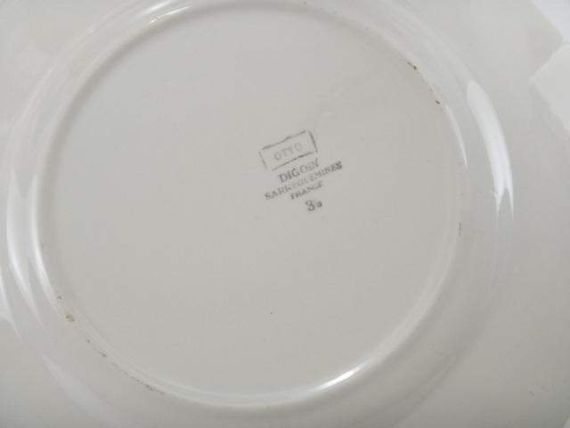チューリップのアンティーク皿 OTTO DIGOIN SARREGUEMINES製