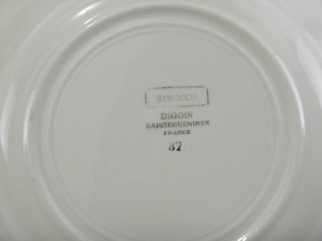 フランス アンティークデザート皿 SIROCCO DIGOIN SARREGUEMINES製