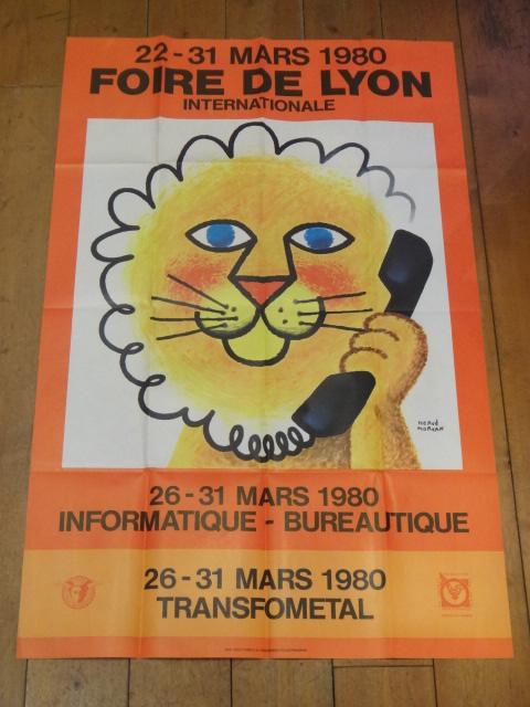エルベ・モルバン FOIRE DE LYON 1980年 ビンテージポスター
