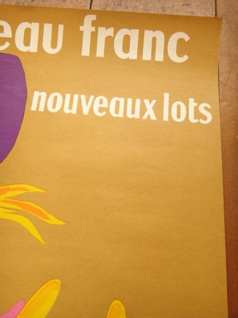 ルフォール・オプノ ヴィンテージポスター a nouveau franc LOTERIE NATIONALE  Lefor Openo