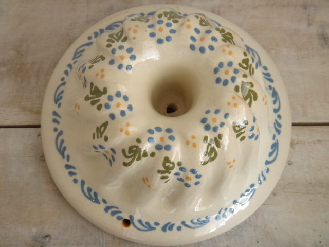 アルザス スフレンハイム焼き 陶器製 クグロフ型 花 Lサイズ 18cm