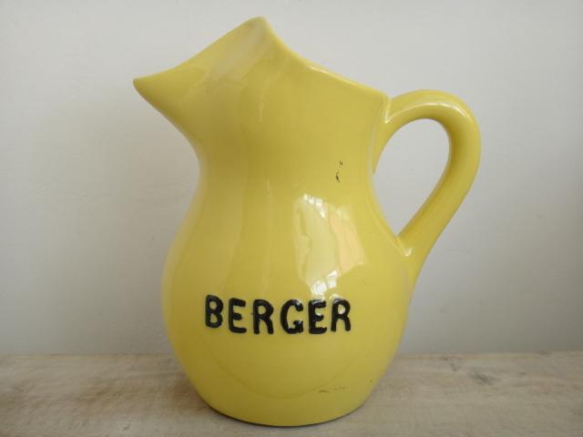 BERGER ピッチャー 陶器製