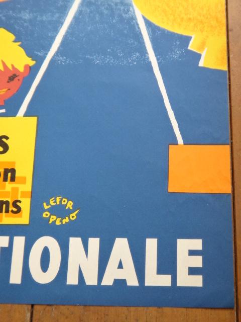 ルフォール・オプノ ヴィンテージポスター Lefor Openo LOTERIE NATIONALE 1957