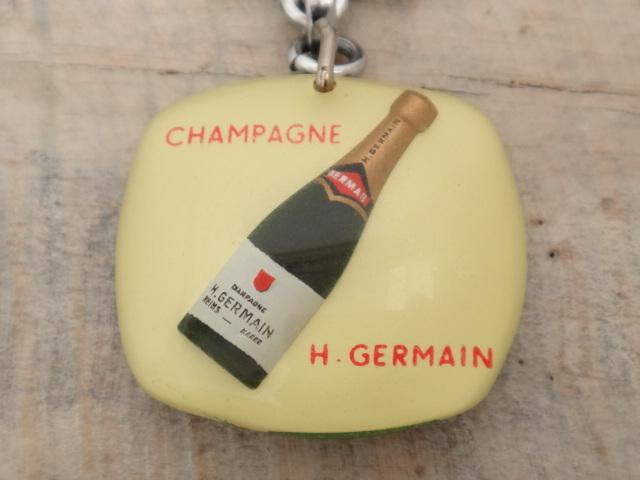 ブルボンキーホルダー シャンパン サッカー CHAMPAGNE H.GERMAIN