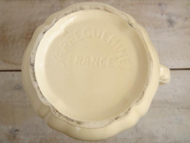フランス アンティーク ポット 花リム SARREGUEMINES製