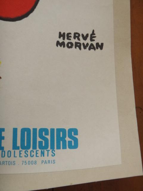 エルベ モルバン ビンテージポスター Jeunesse au plein air Herve Morvan 1979