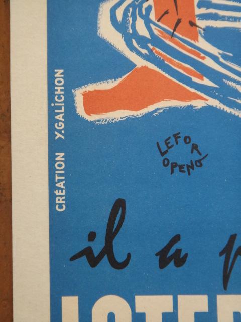 ルフォール・オプノ ヴィンテージポスター Lefor Openo LOTERIE NATIONALE 1955