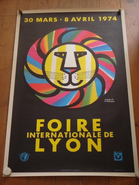 エルベ モルバン ビンテージポスター FOIRE DE LYON 1974年