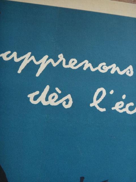 ルフォール・オプノ ヴィンテージポスター Lefor Openo Apprenons cela des l'ecole 1958年