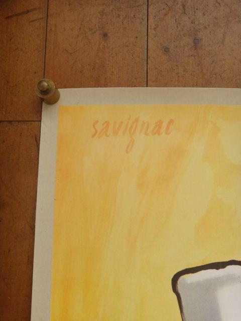 サヴィニャック ビンテージポスター EMPRUNT SAVIGNAC 1978年