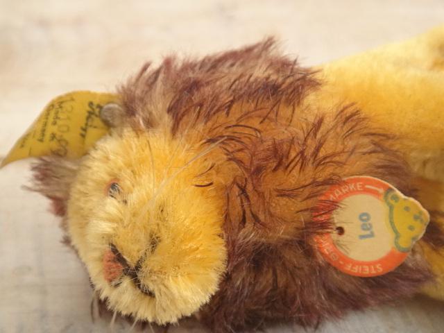 アンティーク シュタイフ ライオン ぬいぐるみ Steiff Leo 10cm