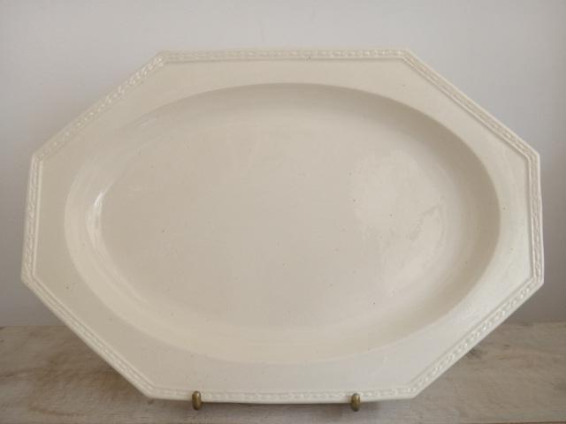 フランス アンティーク オクトゴナル オーバル皿