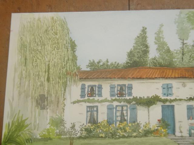 フランス 水彩画 Marais Poitevin by Pascale.F