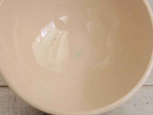 フランス アンティーク カフェオレボウル サーモンピンク スカラップ Digoin & Sarreguemines製