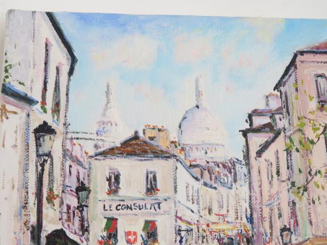 油絵 油彩画 モンマルトル サクレクール寺院 Yetvart Kaprielian