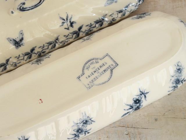 フランス アンティーク 歯ブラシ入れ Decor18 SARREGUEMINES製