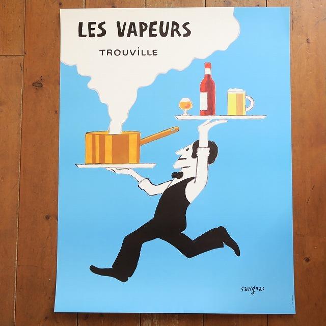 サヴィニャック ビンテージポスター LES VAPEURS TROUVILLE SAVIGNAC