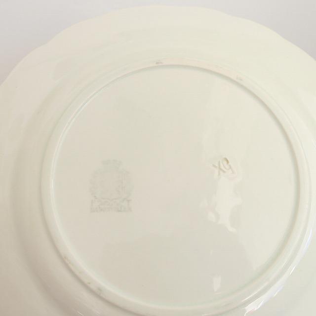 ヒイラギのアンティークデザート皿 Badonviller製