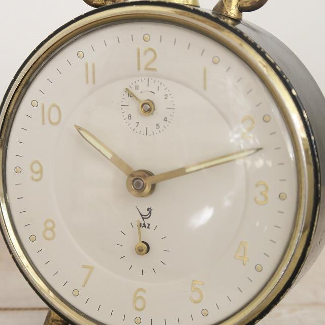 JAZ ビンテージ 目覚まし時計 ブラック