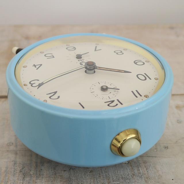 JAZ ビンテージ 目覚まし時計 水色 箱付き