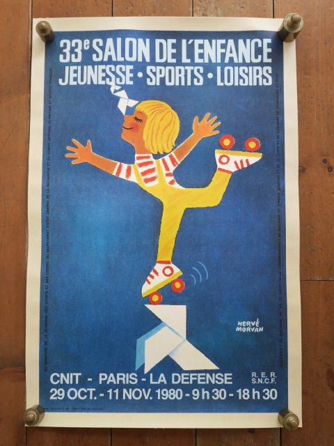 エルベ モルバン ビンテージポスター Salon de L'enfance 1980年 Herve Morvan