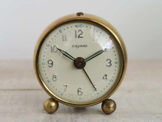 BAYARD製 小さな ビンテージ目覚まし時計