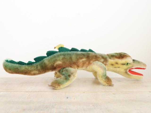 アンティーク シュタイフ ワニ クロコダイル Steiff Gaty 15cmサイズ