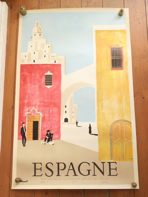 ヴィルモ ヴィンテージポスター スペイン Villemot ESPAGNE 1958年