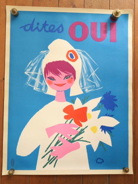 ルフォール・オプノ ヴィンテージポスター Lefor Openo Dites Oui 1958年