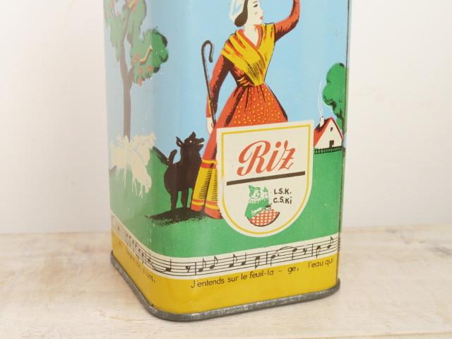 elesca ショコラ アンティーク 缶 Riz 500g