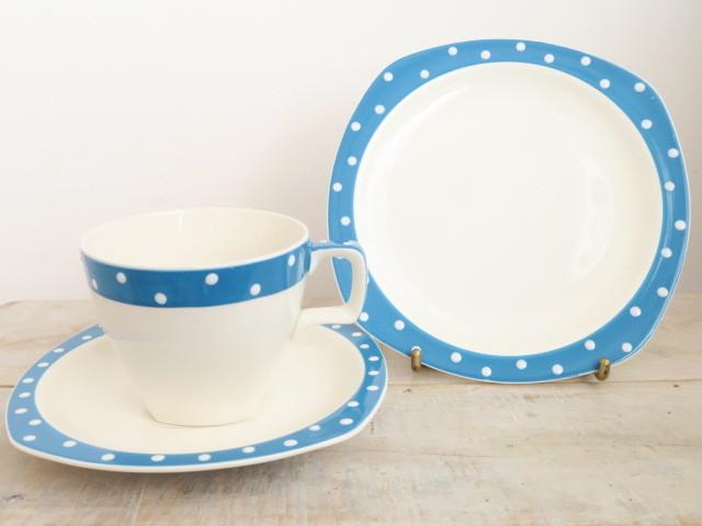 ミッドウィンター ブルードミノ ティートリオ MIDWINTER BLUE DOMINO TEA TRIO