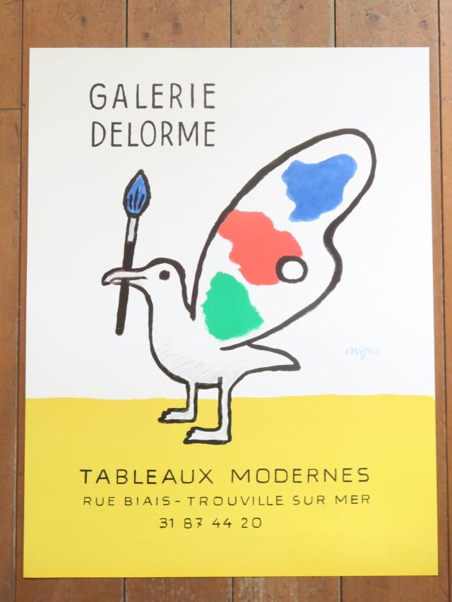 サヴィニャック ギャラリーデローム オリジナルポスター GALERIE DELORME Savignac