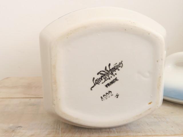フランス サルグミンヌ製 アンティーク キャニスター 砂糖入れ SUCRE Sarreguemines製