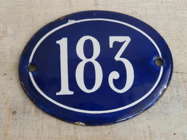 フランスアンティーク 小さなナンバープレート 183