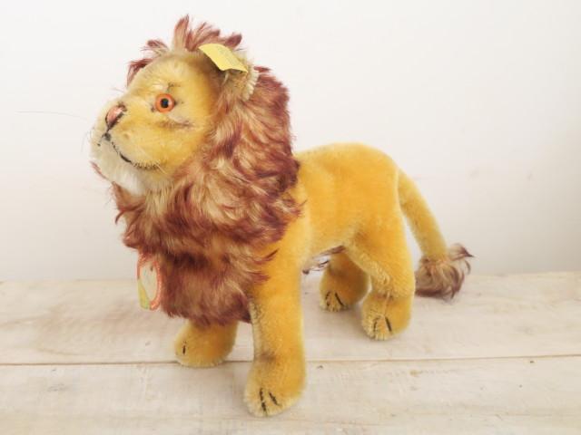アンティーク シュタイフ ライオン ぬいぐるみ Steiff Leo 17cm
