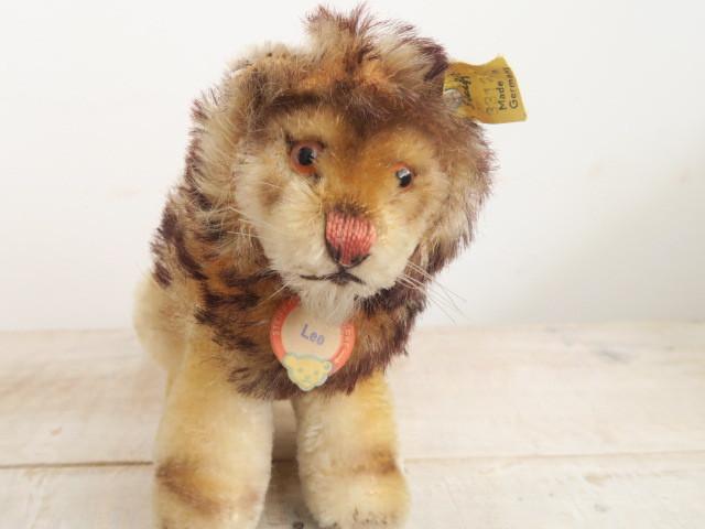 アンティーク シュタイフ ライオン ぬいぐるみ Steiff Leo 12cm